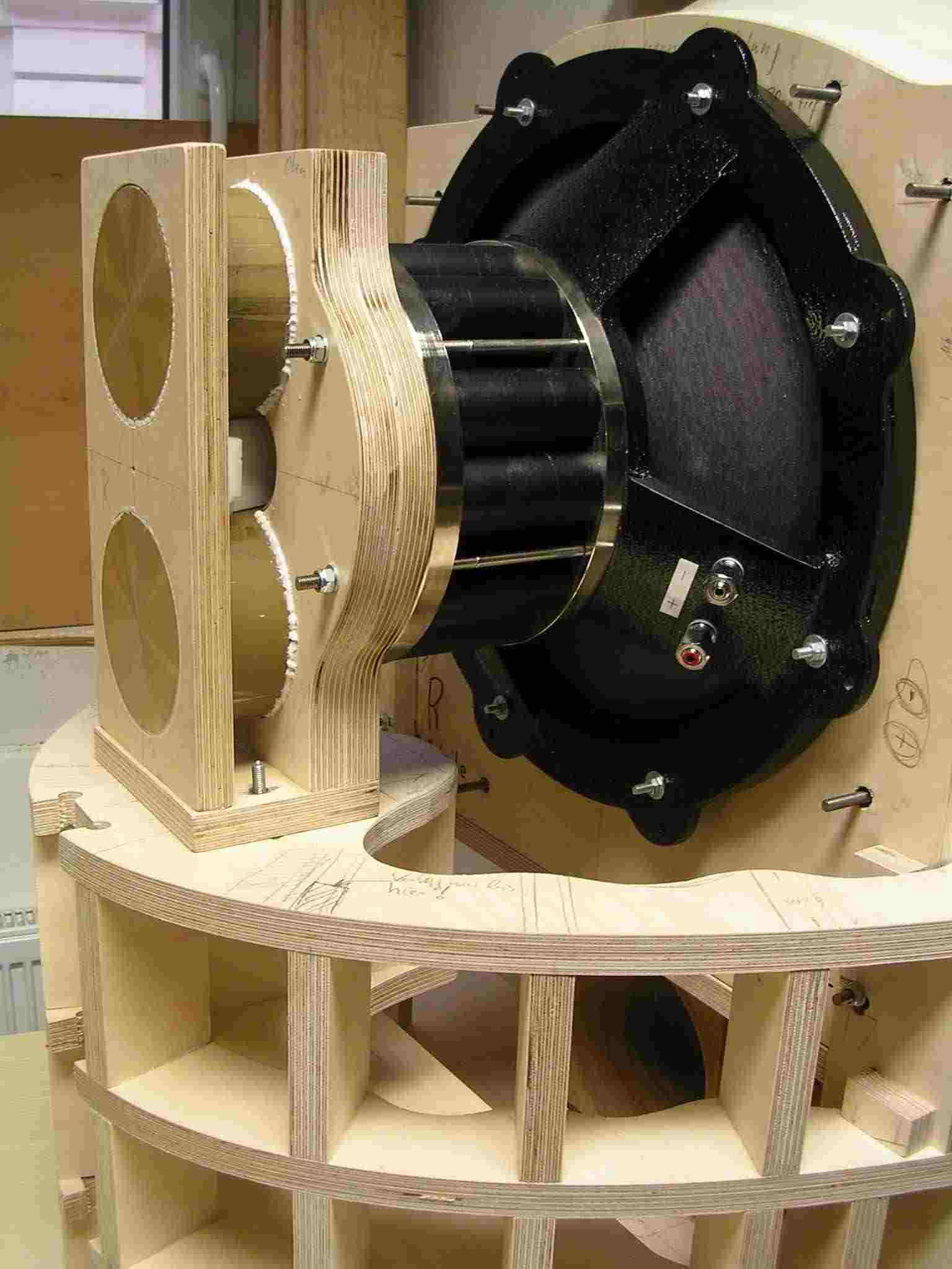 the audio eagle the making of goto horn speakers a la haigner. Black Bedroom Furniture Sets. Home Design Ideas